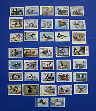 U.S.  1986 State Duck Stamp Collection - 37 MNH stamps