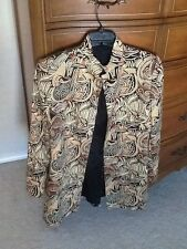 Dana  Buchman African tribal printed long blazer suit jacket sz 4