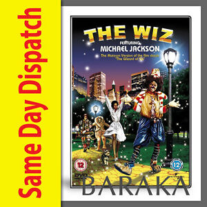"""THE WIZ Michael Jackson DVD Motown Version of """"The Wizard Of OZ"""" R2"""
