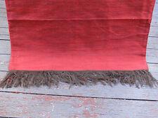 Moroccan red silk sofa throw or bedspread 200 x 280cm