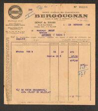 """TOURS (37) USINE de CLERMONT-FERRAND / PNEUS & CAOUTCHOUC """"BERGOUGNAN"""" en 1948"""