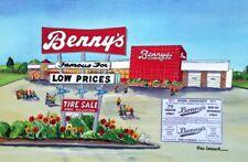 Bennys Department Store Art Print Dept Collectible Nostalgic Memorabilia Gift RI