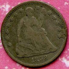 1858 (F) 5C Silver Seated Liberty Half Dime