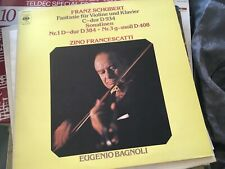 SCHUBERT Violin Fantasy & Sonatinas 1, 3,  ZINO FRANCESCATTI, CBS STEREO LP