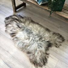 NATURAL GREY ICELANDIC SHEEPSKIN THROW RUG  #005