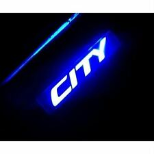 Car Door Sill Scuff Plate With Blue LED For New Honda City - Set Of 4 PSC