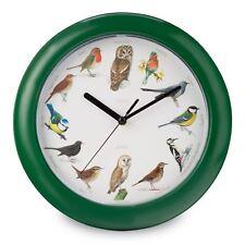 Orologio da parete Bird Song musicale suona ogni ora NUOVO GRATIS P + P