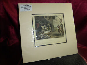 Antique 1850 HOGARTH Hand coloured Engraving by Phillibrown Mounted Art Print