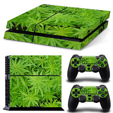 PS4 Skin & Controllers Skin Vinyl Sticker For PlayStation 4 Weed 420 Natural 3