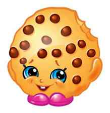 """Shopkins Kooky Cookie Iron On Transfer 5"""" x 5.25"""" for LIGHT Colored Fabric"""