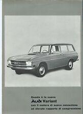 Audi Variant DKW Auto Union Original Italian Language Brochure Prospekt 1966