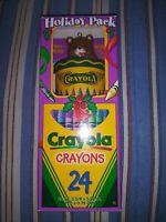 Vintage 1996 ~ 24 Crayola Crayons & One Crayola Ornament ~ New in Box