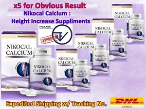 x5 NIKOCAL CALCIUM Supplements Increase Height Nourish Bones Vitamins x1,500mg