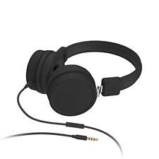 KitSound Brooklyn Lightweight Foldable Wired On-ear Headphones - Black