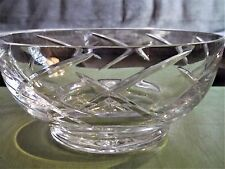 Lead Crystal Bowl Made in Portugal with an  X Pattern Hand Made Cut Lead Crystal