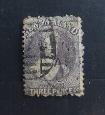 New Zealand 1864 #33 Lilac 3d Chalon Wmk 6,Queen Victoria VFU