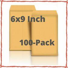 Mailing Envelopes Peel & Seal 6x9-Inch Catalog No Moisture Brown Kraft 100-Pack