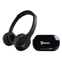senza fili Stereo cuffie Trasmettitore auricolari FM Radio per TV MP3 PC K4H5