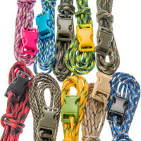 10Pc 550 Cord 10 Ft Paracord Camo Design 7 Strand with Buckles