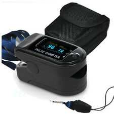 USA FDA CE Oximeter Pulse Finger Tip Monitor Blood Oxygen SpO2,PR CMS50D,Black