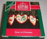 1992 Hallmark Keepsake Ornament Heart of Christmas Collector's Series NEW