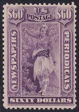 US STAMP BOB #PR79 $60 PURPLE 1879 Newspaper Periodicals Stamp UNUSED/NG $350