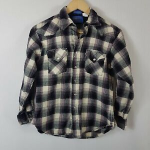 Pendleton Kids Long Sleeved shirt Large L Pearl Snap 100% Virgin Wool Youths