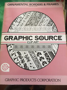 Graphic Source Clip Art Book Library - Ornamental Borders And Frames, Pb