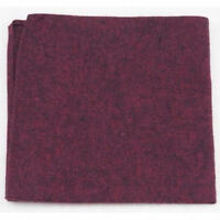 New Burgundy Red Cotton Pocket Square. Excellent Quality & Reviews. UK.