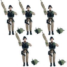 Lot of 5pcs BBi Elite Force 1:18 Helicopter PIlot 2 Desert Flight Suit with Gun