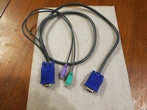 Câble Adaptateur VGA Male vers VGA Male + Connecteur PS/2