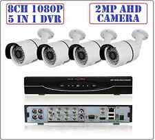 8CH 2MP 1080P 5 in 1 DVR, 2MP 1080P AHD CCTV Security Camera System Bullet Kit