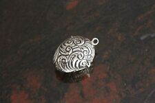 Stirling Silver Oval Pendant/Pill Box