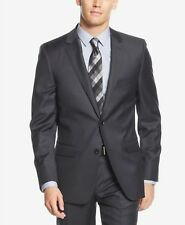 $550 DKNY Men's EXTRA SLIM FIT 2 BUTTON GRAY WOOL BLAZER SUIT COAT JACKET 44 L