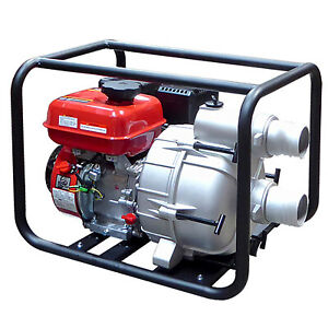 "6.5HP 3"" Gas Power 264GPM Full Trash Water Pump For Drain Flood Irrigation EPA"