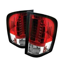 FITS 07.5-14 CHEVY SILVERADO SPYDER RED/CLEAR LED TAIL LIGHTS..