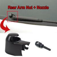 Rear Wiper Arm Cap Nut Washer Cover Jet Nozzle For VW Polo Touran Skoda Yeti