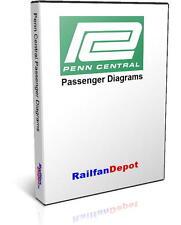 Penn Central Passenger Car Diagrams - PDF on CD - RailfanDepot