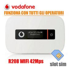 MODEM ROUTER PORTATILE VODAFONE R208 3G WIFI MIFI SIM 42mps UMTS NO 4G X TUTTI