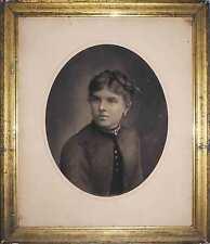 Super portrait de femme vers 1850 mine de plomb rehaut craie