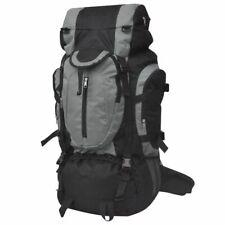 vidaXL Hiking Rugzak XXL 75 L Zwart en Grijs Trekkingrugzak Dagrugzak Backpack