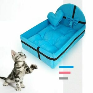 Cushion Pet Cat Dog House Nest Mat Warm Small Medium Large Removable Bed Kennel