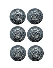 Button Thistle Chrome 19mm Medium Pack of 6 R819