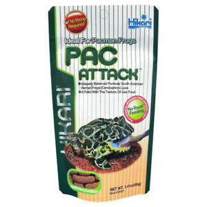 2 X Hikari Food Pac Attack Pacman Frogs Stick Pellet Ceratophrys Reptile 40g
