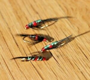 4 Bibio Diawl Bachs, Flash Bach, Trout Nymphs, Trout Flies, For Fly Fishing Fly
