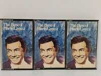 Vintage Retro 40's Music Cassettes Tapes Bundle x 3 The Best of Mario Lanza