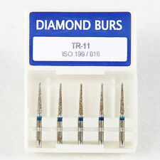50x Dental Diamond Burs TR-11 for High Speed Handpiece Turbine 1.6mm Free Ship