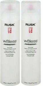 Rusk W8Less Strong Hold Hairspray 10 Oz -Pack of 2