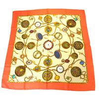 Auth Gucci Silk Scarf Multi-color 09PA216