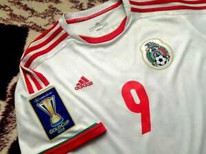 Jersey mexico Raul Jimenez adidas 2013 climacool (L) Gold Cup fit wolves shirt